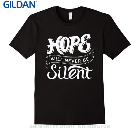 'Hope Will Never Be Silent' T Shirt- Psalm 25:3