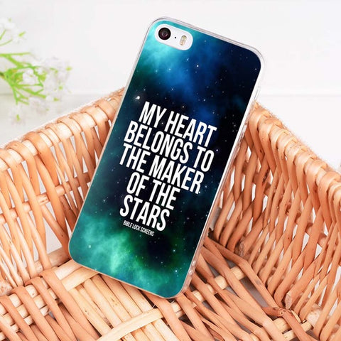 'My Heart Belongs To The Maker Of the Stars' iPhone Case