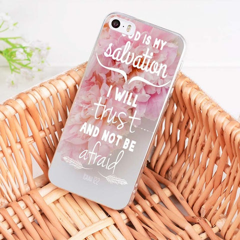 'God Is My Salvation' iPhone Case