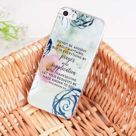 'Do Not Be Anxious' iPhone Case