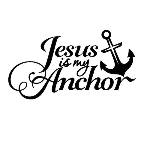 'Jesus Is My Anchor' Car Sticker