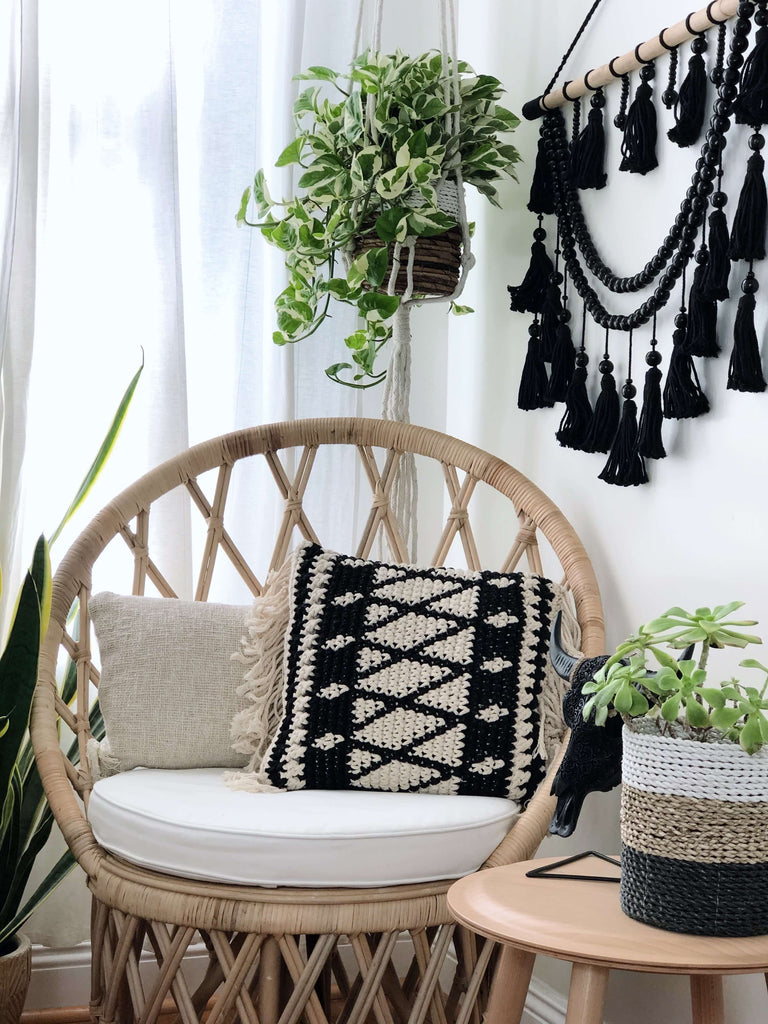 bohemian wall hanging beaded tassel tapestry