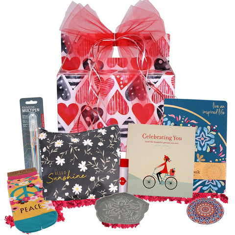 Celebrating You Valentine's Day Gift Basket - hipkits.com