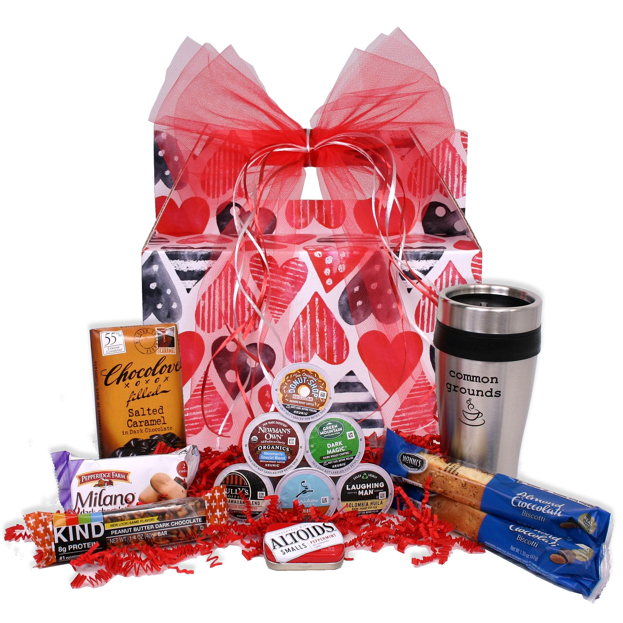 Common Grounds - Valentine's Day K-Cup Coffee Gift Basket - hipkits.com