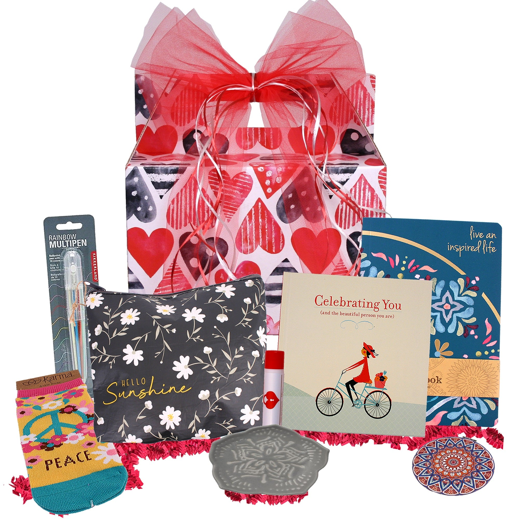 Celebrating You Valentine's Day Gift Basket