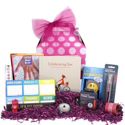 Celebrating You Gift Basket - beyondbookmarks.com