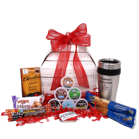 Common Grounds - K Cup Coffee Lover's Basket - beyondbookmarks.com