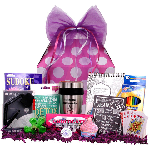 Good Vibes Girl Gift Basket - beyondbookmarks.com