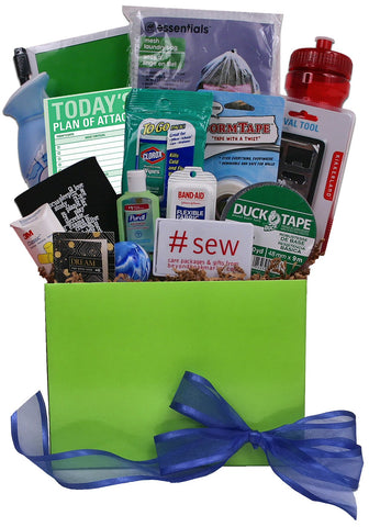 Dorm Essentials Gift Basket - beyondbookmarks.com