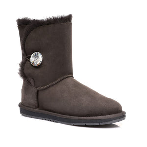 Ladies Crystal Short Button UGG Boots