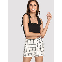 Aubree Grid Shorts