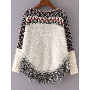 Mohair Poncho Sweater