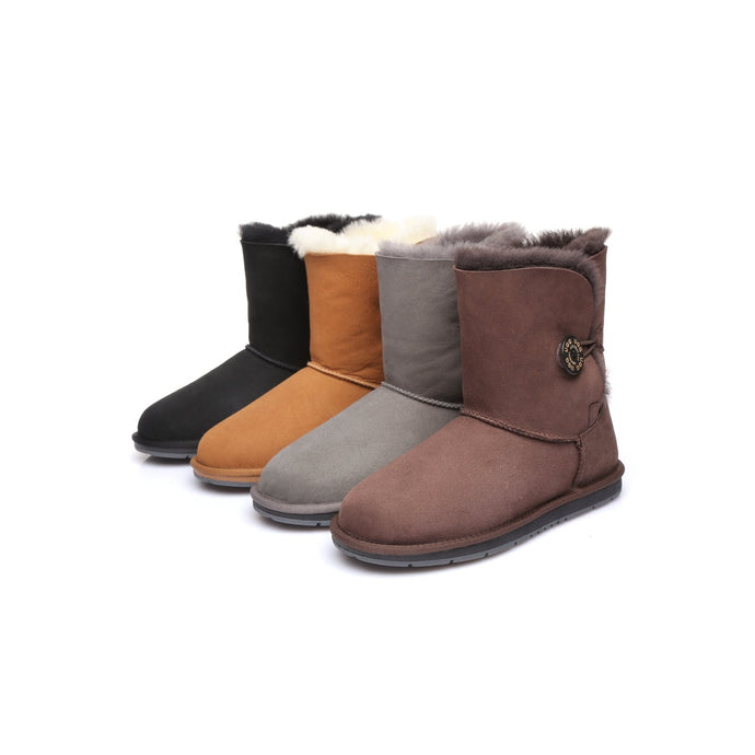 Ladies Short Button UGG Boots