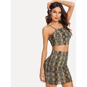 Paisley Snakeskin Two Piece Set