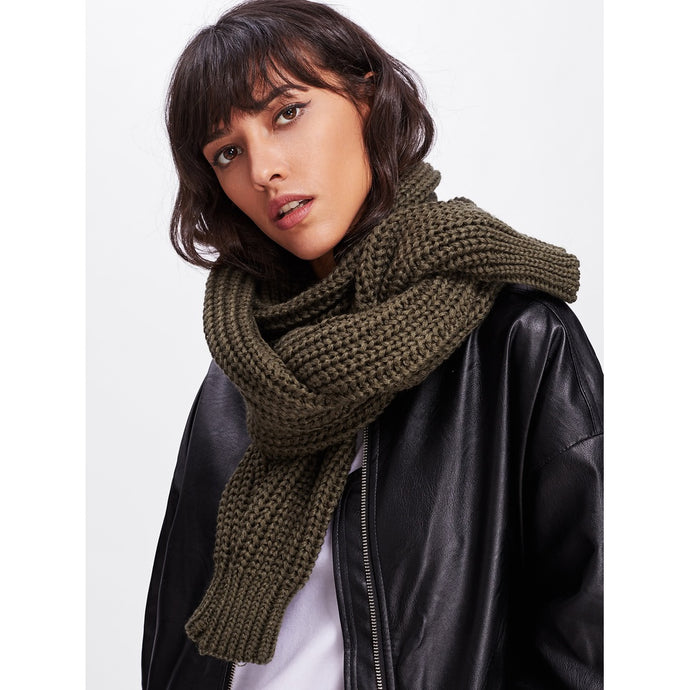 Textured Knit Scarf