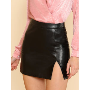Cheri Faux Leather Skirt