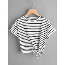 Striped  Knot Tee