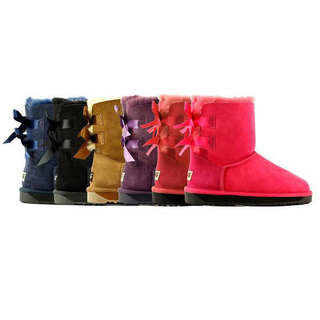 ... Ladies Bailey Bow Short Classic UGG Boots ...