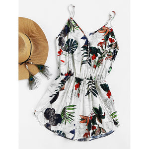 Ellie Tropical Cami Romper