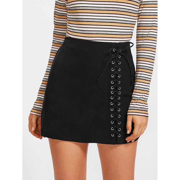 Candice Lace Up Skirt