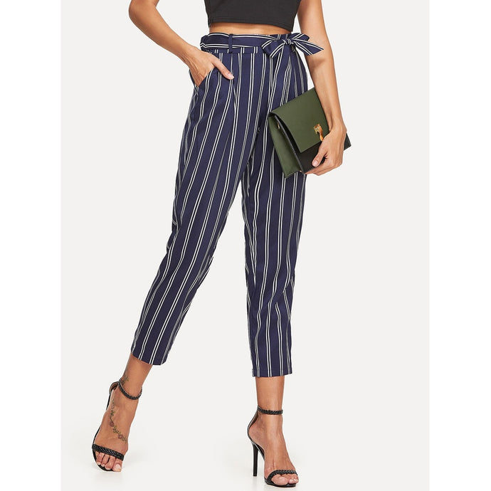 Gemma Tapered Striped Pants