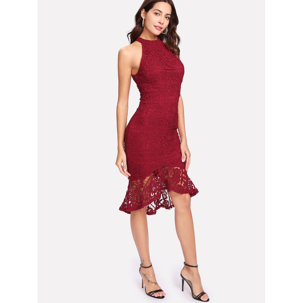Trudy Fitted Lace Dress