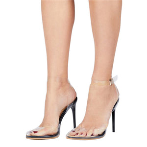 Julia Invisible Ankle Strap Heel
