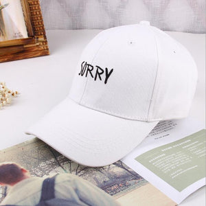 Sorry Embroidered Cap