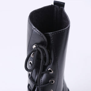 PU Leather Women Winter Warm Shoes