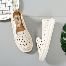 2018 New Women Flats Embroidery Straw Fisherman Shoes Cut Out Hollow Out Casual Shoes Spring Summer Green White Beige 35-40