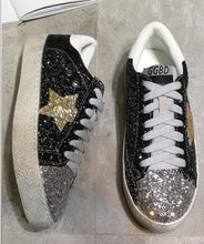 GRAM EPOS 2018 Women Casual Shoes Glitter Leather Do Old Dirty Shoes Mixed Color Women Sequins Star Golden Fleeces trainers