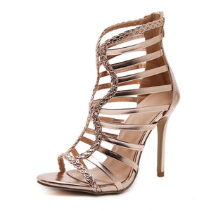 Savannah Peep Toe Gladiator Heel