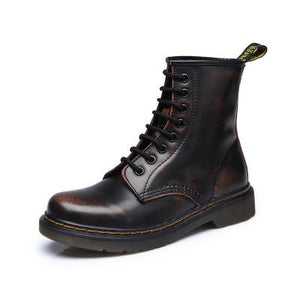 Genuine leather Woman Martin Boot