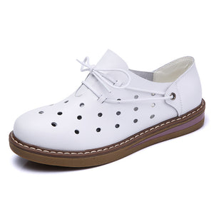 STQ 2018 Autumn women sneakers oxford shoes flats shoes women leather suede lace up boat shoes round toe flats moccasins 989