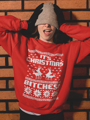 It's Christmas Bitches Ugly Sweater Sweatshirt