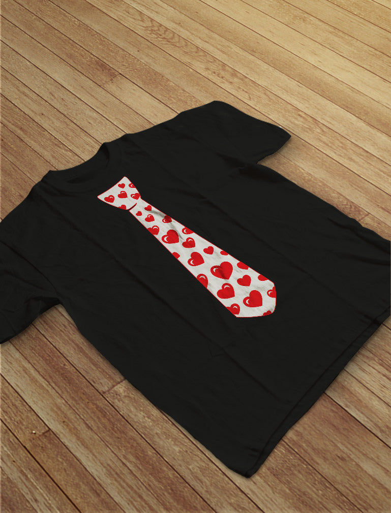 Red Hearts Tie for Valentine's Day Love T-Shirt
