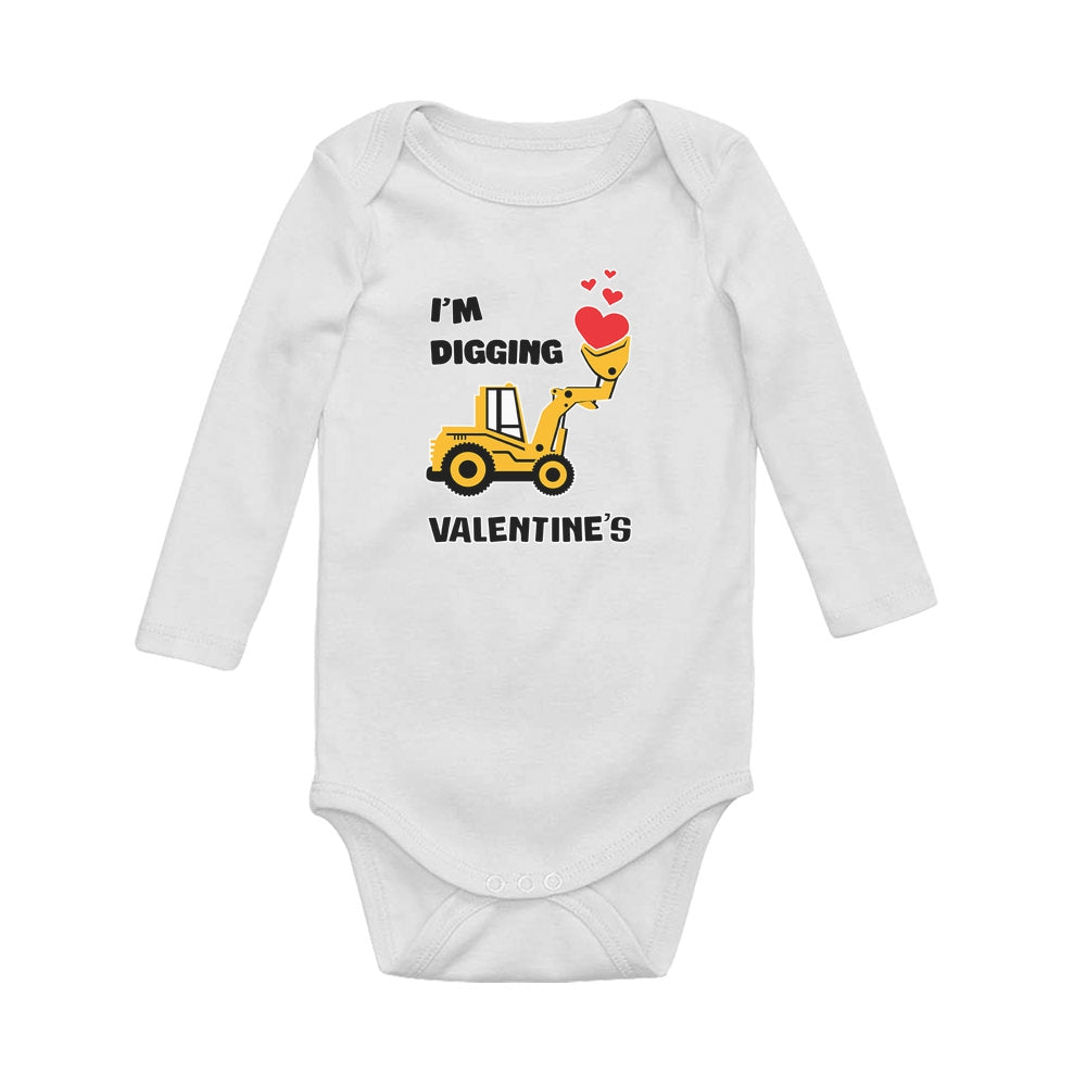 I'm Digging Valentine's Baby Long Sleeve Bodysuit