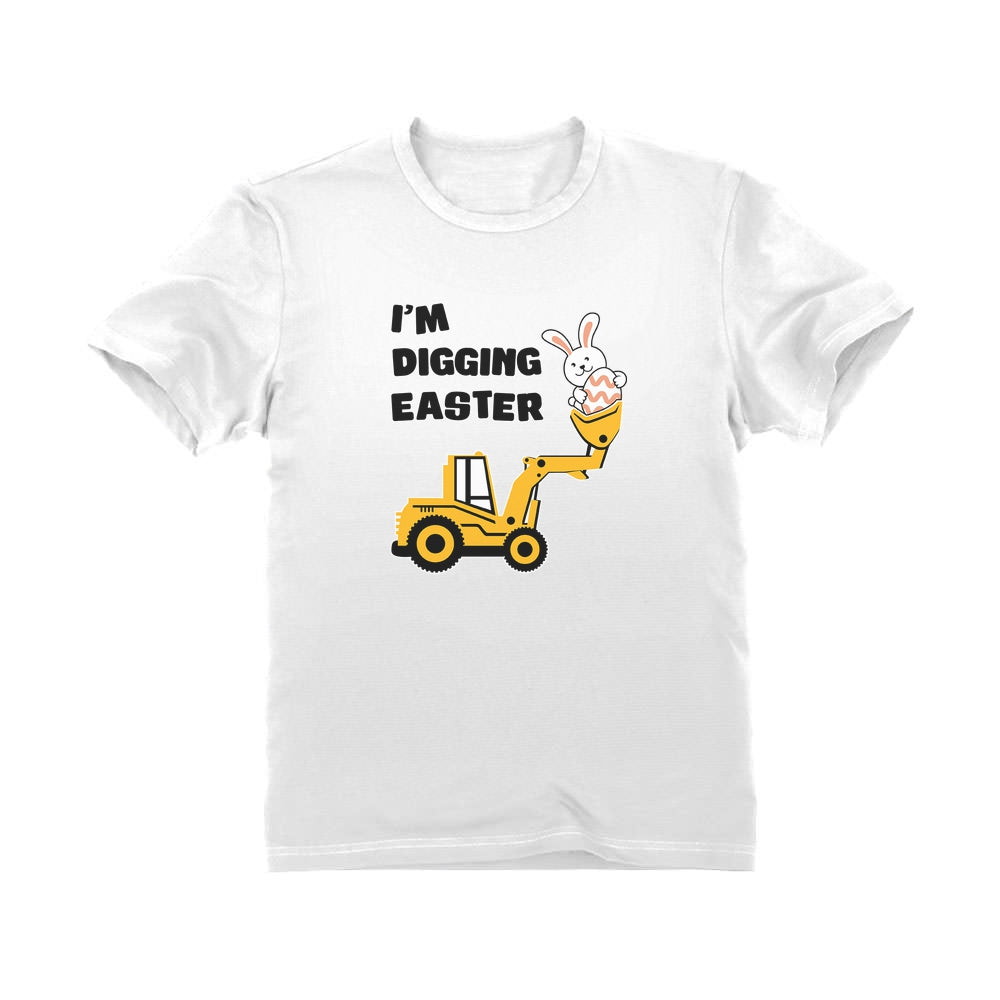 I'm Digging Easter Cute Bunny Youth Kids T-Shirt