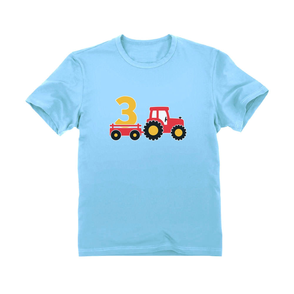 Birthday Tractor 3 Year Old Gift Toddler Kids T-Shirt