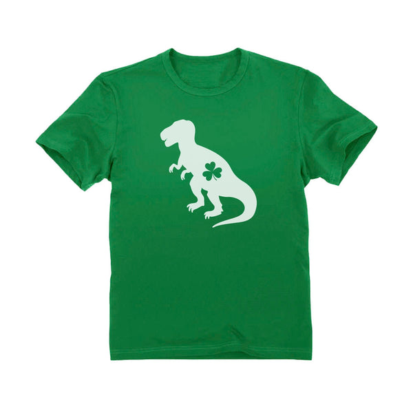 Tstars tshirts Irish T-Rex Dinosaur Clover St. Patrick's Day Toddler Kids T-Shirt