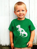Irish T-Rex Dinosaur Clover St. Patrick's Day Toddler Kids T-Shirt