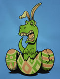 T-Rex Bunny Easter Egg Toddler Kids Long sleeve T-Shirt
