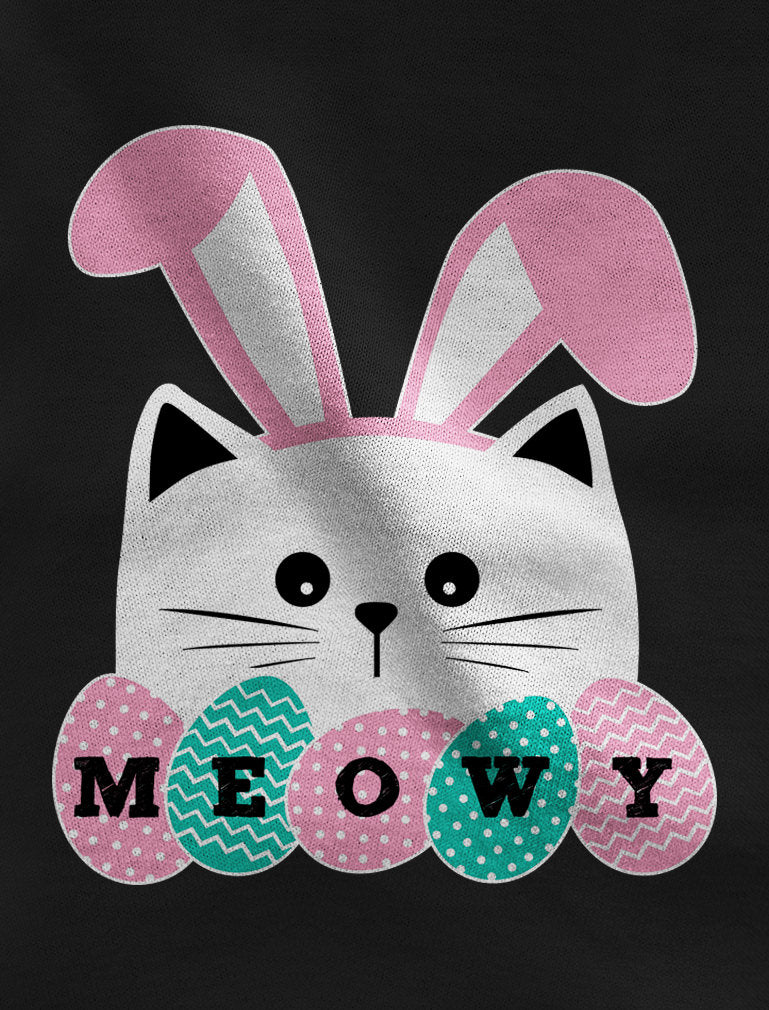 Meowy Easter Cat With Bunny Ears Toddler Kids Sweatshirt - Red
