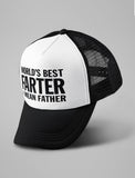 World's Best Farter, I Mean Father Funny Cap Trucker Hat Mesh Cap