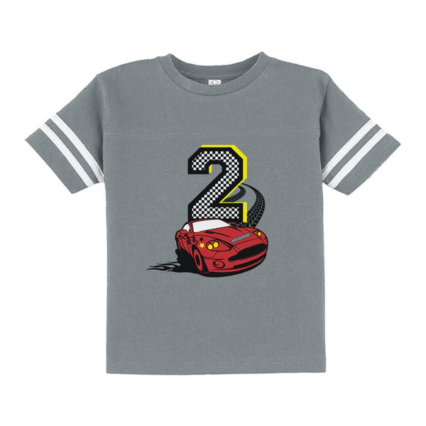 2nd Birthday Race Car Toddler Jersey T Shirt Tstars