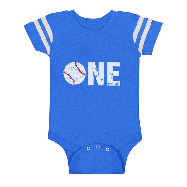 Tstars tshirts 1st Birthday Gift for One Year old Baseball Baby Jersey Bodysuit