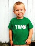 2nd Birthday Gift Two Year old Baseball Toddler Kids T-Shirt