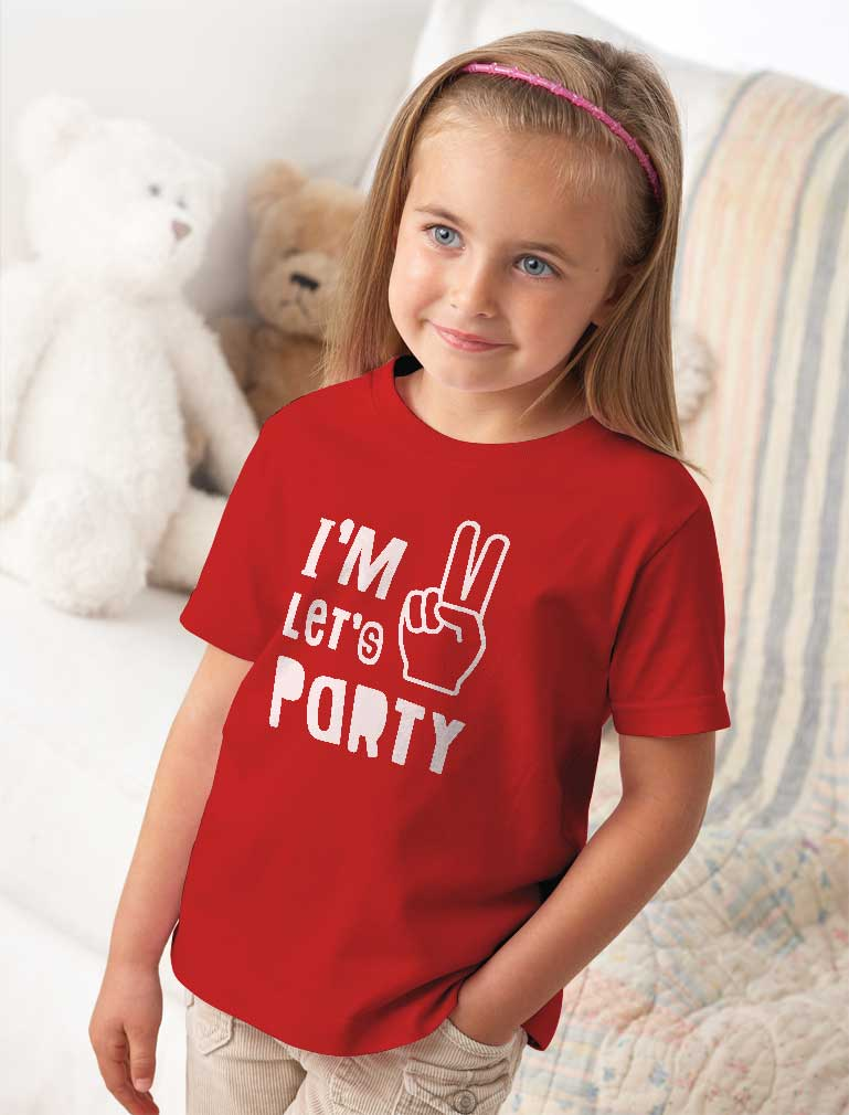 I'm Two Let's Party Toddler Kids T-Shirt