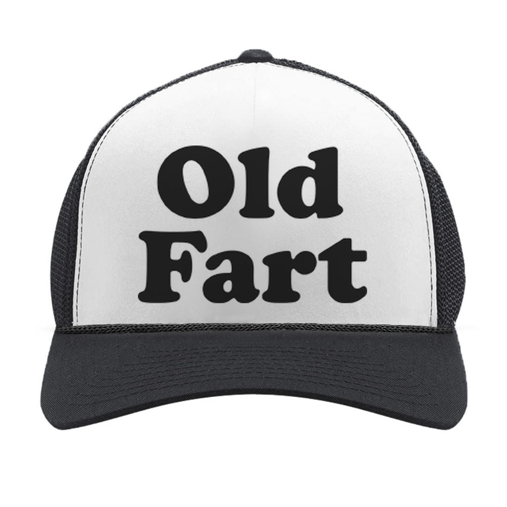 Old Fart - Birthday Gift For Father - Funny Dad Joke Trucker Hat Mesh Cap