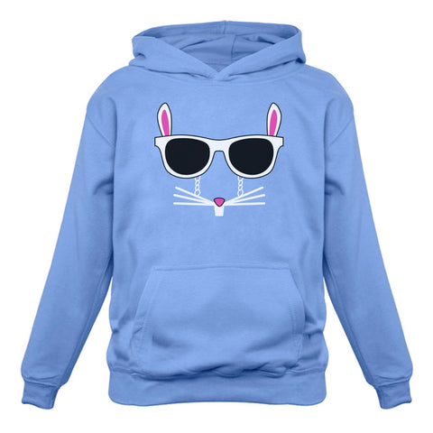Tstars tshirts Easter Bunny - Cool Glasses Rabbit Face Hoodie